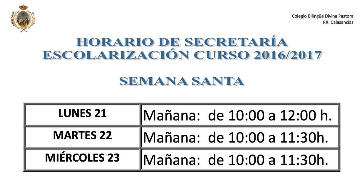 HORARIO SECRETARIA SEMANA SANTA.pdf (1 página) Vista Previa, hoy at 22.24.20